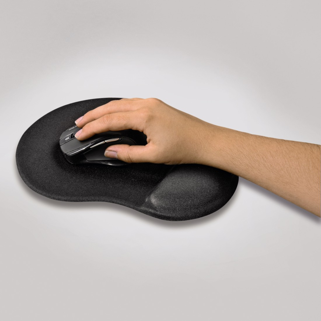 "awx High-Res Appliance - Hama, ""Ergonomic"" Ergonomische muismat, mini, zwart"