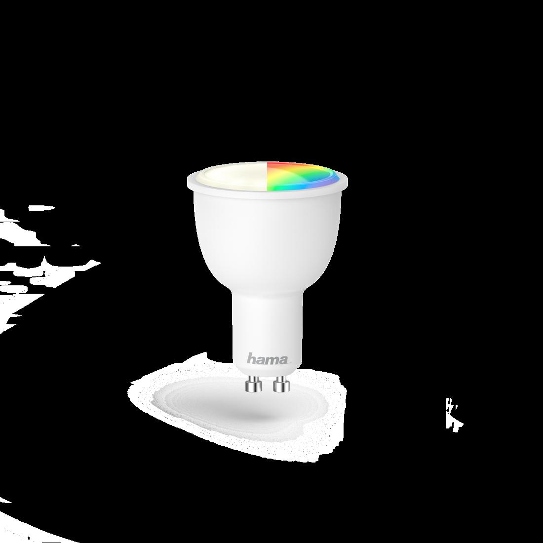 Welp 176548 Hama Wifi-ledlamp, GU10, 4,5W, RGB, dimbaar | hama.nl RM-06