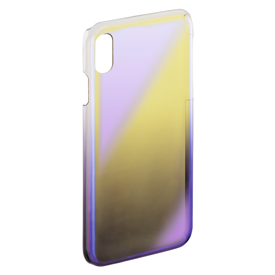 "abx2 High-Res Image 2 - Hama, Cover "" Mirror"" voor Apple iPhone X, geel/lila"