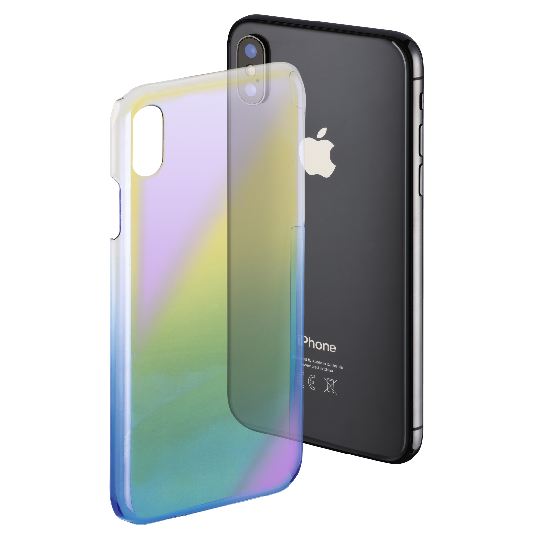 "abx High-Res Image - Hama, Cover "" Mirror"" voor Apple iPhone X, geel/blauw"