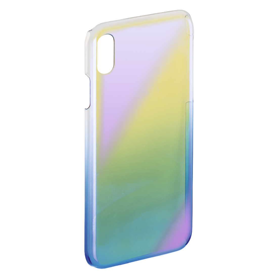 "abx2 High-Res Image 2 - Hama, Cover "" Mirror"" voor Apple iPhone X, geel/blauw"