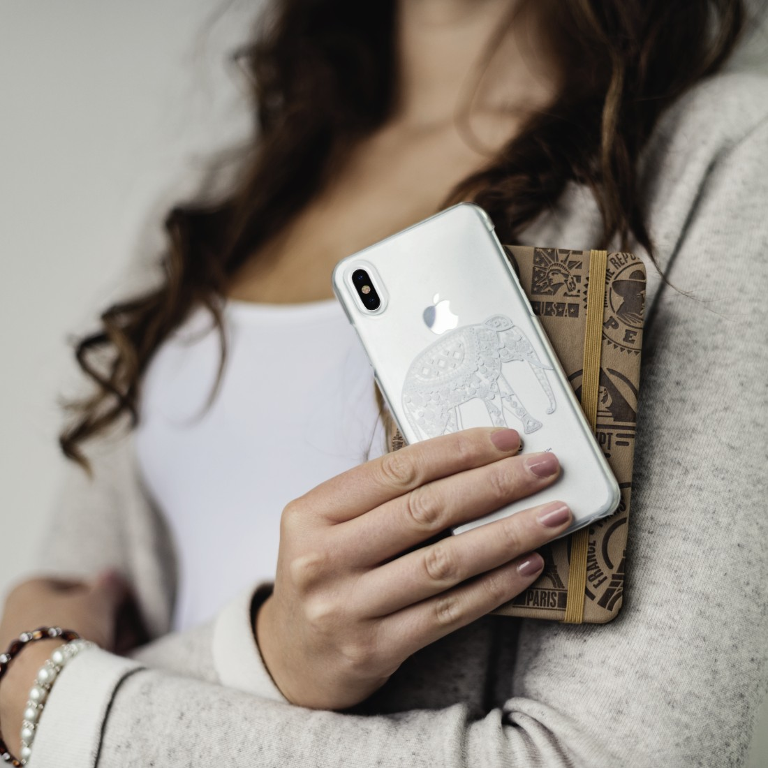 awx High-Res Appliance - Hama, Cover Hathi iPhone X transparant