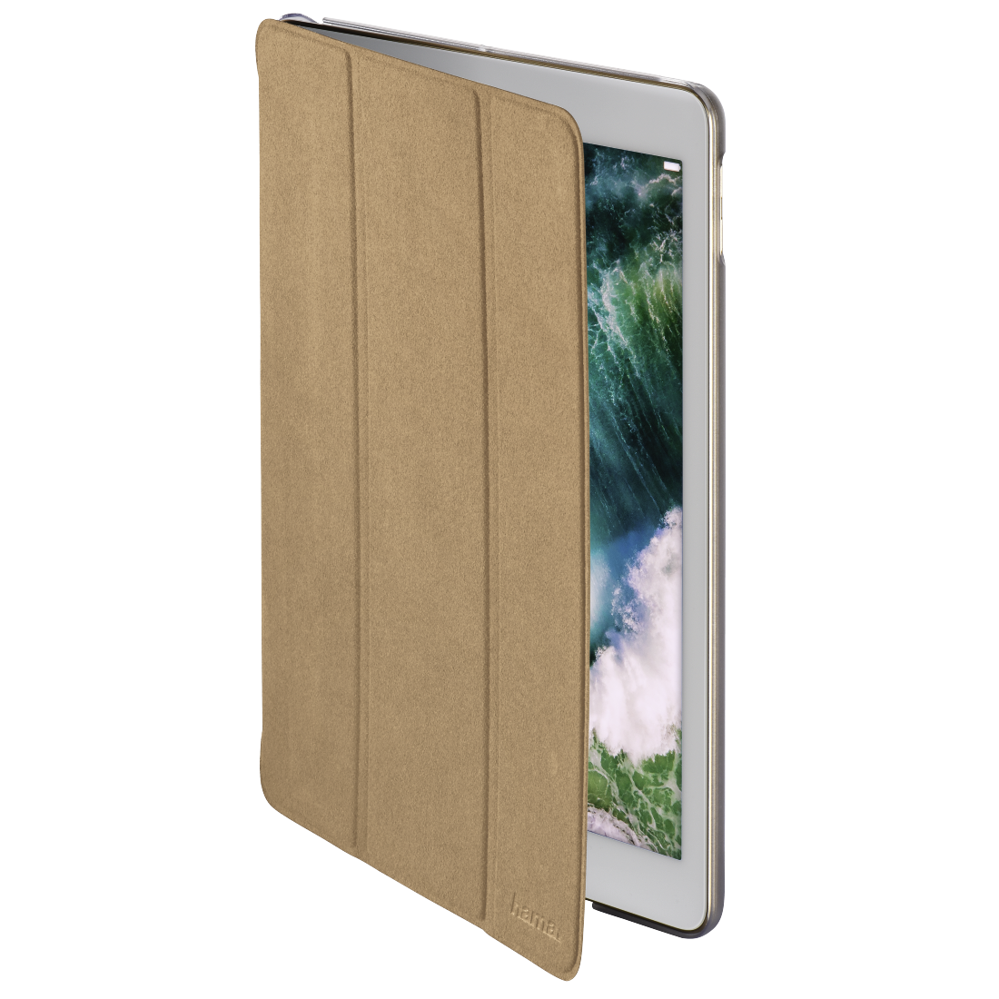 "abx High-Res Image - Hama, Tablet-case ""Suede Style"" voor Apple iPad 9.7 (2017/2018), beige"