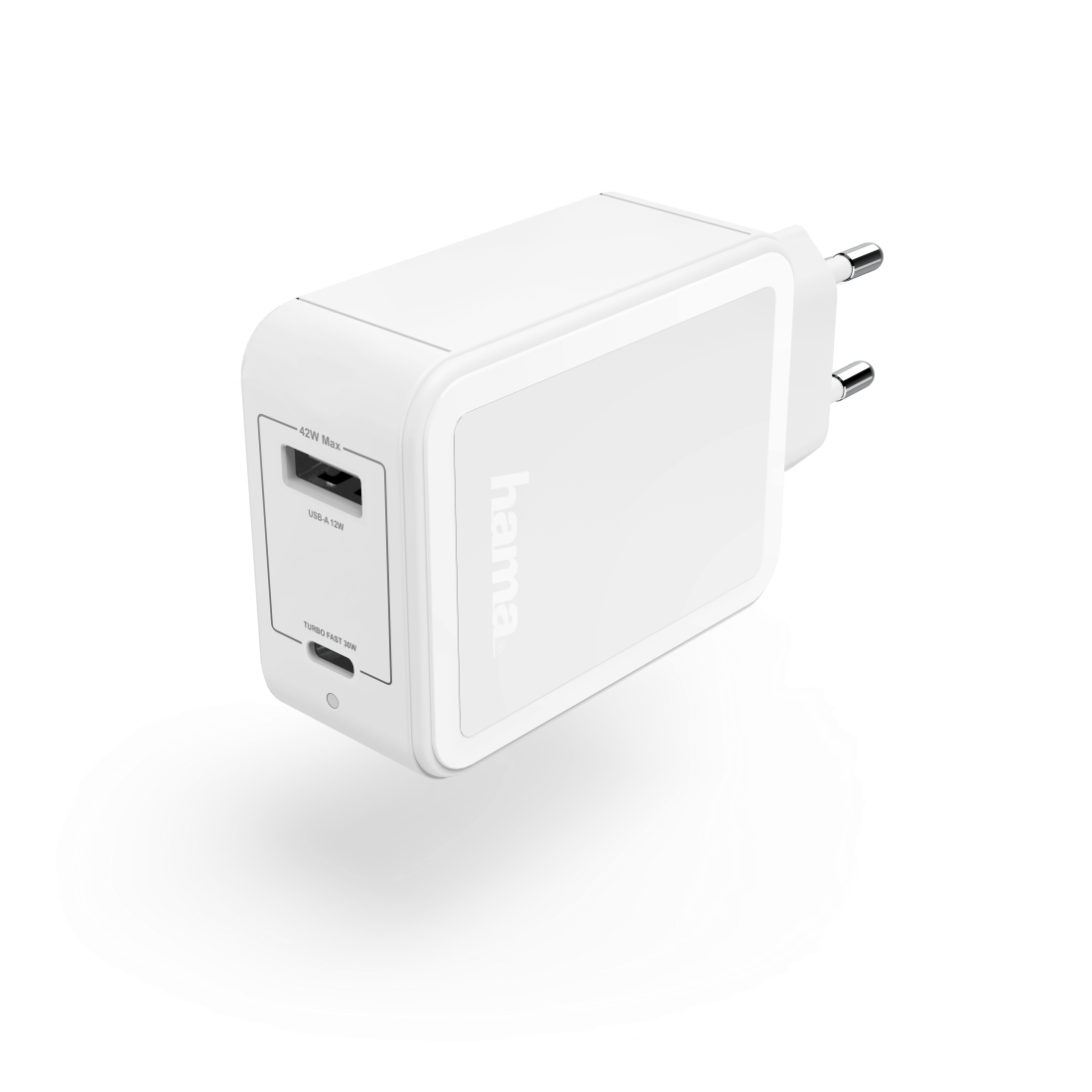 abx High-Res Image - Hama, Oplader, USB-C, Power Delivery (PD)/Qualcomm® + USB-A, 42 watt, wit