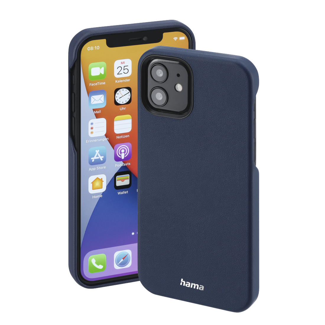 "abx High-Res Image - Hama, Cover ""MagCase Finest Sense"" voor Apple iPhone 12/12 Pro, blauw"